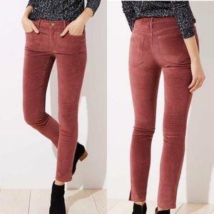 LOFT Ann Taylor Modern Velvet Slit Skinny Jeans